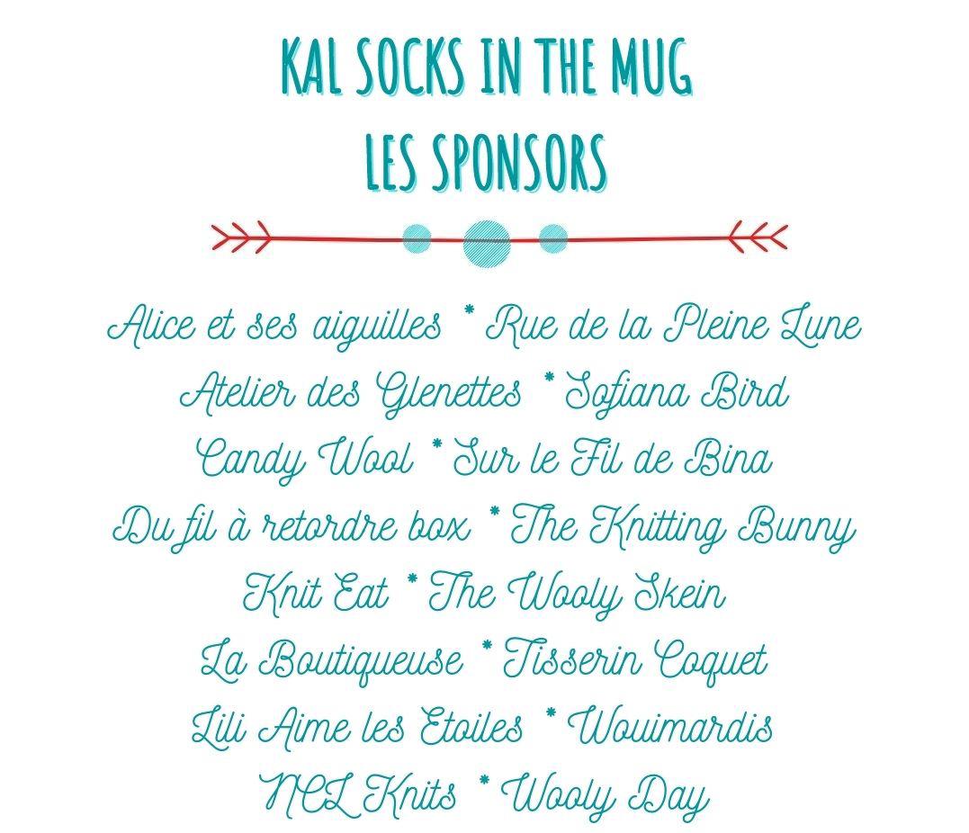 KAL SOCKS IN THE MUG LES SPONSORS